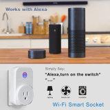 APP Werk van de Contactdoos van de Stop van WiFi van de Afstandsbediening het Slimme met de Britse Contactdozen van de Echo van Amazonië Alexa en van het Huis Google, van de V.S., van de EU en