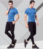Spandex/Polyester ordinaires Sportswear Gym T-Shirt pour Men