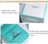 Verpakkende Doos van de Gift van de Juwelen van de Tegenhanger van de manier de Witte met het Embleem van de Douane
