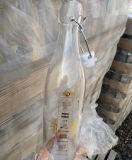 Round & Square Imprimir fivela metálica do logotipo garrafa de vidro, incline o frasco de vidro superior