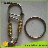 Fabricación de Keychain promocional ningún abrelatas de botella de encargo de Keychain del metal de encargo de MOQ Keychain