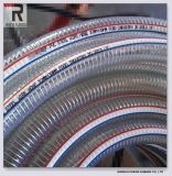 De zachte Pijp van de Draad van het Staal van pvc Spiraalvormige voor de Plastic Slang van het Water