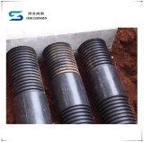HDPE doppel-wandiges perforiertes gewölbtes Entwässerung-Rohr