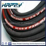 El SAE 100 R6 escoge el manguito de goma hidráulico tejido fibra