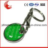 Materiële Boodschappenwagentje Symbolische Keychain van het Metaal van de Verkoop van de fabriek het Directe