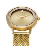 Oro, il nero, marchio impermeabile d'acciaio ultrasottile e Wordings del cliente di sostegno di Belbi di marca della cassa della lega della vigilanza delle donne dell'orologio casuale d'argento di affari