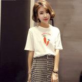여자의 t-셔츠 간결 소매 중국제 최신 판매