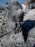 Jardin naturel sculptées en pierre extérieure ou intérieure sculpture de marbre/granit Lion