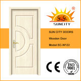 Porta interior da madeira contínua das portas baratas (SC-W122)