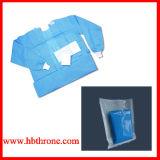 Wegwerf-pp.-nichtgewebtes undurchdringliches steriles Kleid-Blau