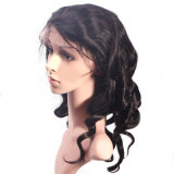 peruca cheia do laço das mulheres frouxas de seda brasileiras novas da onda do laço do cabelo humano da cor da natureza 7A