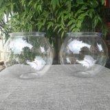 El acuario de peces de plástico transparente de plástico Bowl