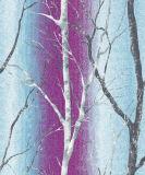 Venta caliente Natural personalizado hermosos árboles de papel de pared
