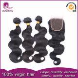 I capelli umani indiani di 100% tessono i gruppi dei capelli dell'onda del corpo