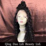 Parrucca piena all'ingrosso del merletto dei capelli umani con la linea sottile naturale di scoppi
