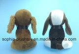 Recheado de cão de pelúcia brinquedo com grande Ear