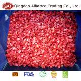 동결된 최상 깎뚝썰어진 딸기