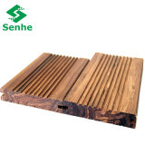 Suelo de bambú tejido hilo carbonizado al aire libre