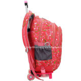 Книга малышей назад к мешку багажа вагонетки колеса Backpack школы