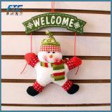 Décoration de Noël de porte d'arbre de bonhomme de neige du père noël pour la maison