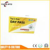 La ISO de plástico de NXP MIFARE Plus 2K logotipo impreso la tarjeta RFID para el sistema de tickets