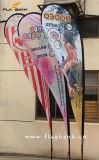 bandeira personalizada alumínio do Teardrop da exposição de 3.4m/bandeira do vôo