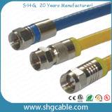 F Conector de compressão para cabo coaxial RF Rg59 RG6 Rg11 (F037B)