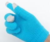 安い価格のカシミヤ織のニットの携帯電話の容量性タッチ画面の冬の暖かい手袋