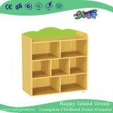 Mobilier en bois sac d'enfants de maternelle étagère de stockage (HG-4209)