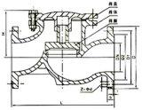 """Válvula de verificação H41t do vapor do ferro de molde (1 """" - 10 """")"""