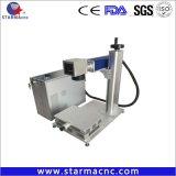 자동적인 자유로운 납품 금속을%s 휴대용 섬유 Laser 표하기 기계