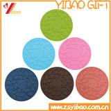 Esteira do copo do silicone da forma redonda (YB-LY-CM-01)