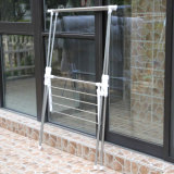 O X-Tipo telescópico do aço inoxidável veste gancho de secagem