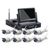 Câmera sem fio econômica do IP dos jogos 1.0megapixel WiFi do CCTV de 8CH WiFi para a segurança do escritório