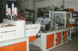 Automatischer zwei Schicht-Plastikshirt-Beutel, der Maschine herstellt