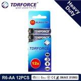 trockene Hochleistungsbatterie 1.5V mit BSCI für Taschenlampe (R6-AA 12PCS)
