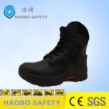 Высокая посадка стальным носком мужчин кожаные безопасности обувь