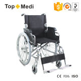 Topmedi Manual Steel Wheelchair con Quick Relese Rear Wheel