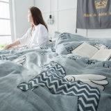 Microfiber Flannel 양털 겨울 침구 침대 시트 깃털 이불 덮개 세트