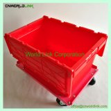 Couvercle en plastique coloré empilable Skid-Proof Nestable conteneur mobile