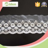 China Supplier Mesh Lace Tecido Net and Organza Embroidery Lace