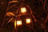 太陽動力を与えられた蝋燭ライトLEDキャンプの庭のヤードの屋外のハングのランタンランプ