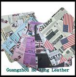 Couro impresso em couro para sofá, saco de mão, sapatos