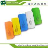 banco da potência do USB 5200mAh com a lâmpada colorida do famoso do bulbo do diodo emissor de luz