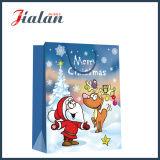 Papier couché 4c imprimé Cartoon main Sac en Papier de cadeau de Noël