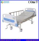Medizinischer Gebrauch manuelle Einzeln-Funktion kein Fußrollen-einfaches Krankenhaus-Krankenpflege-Bett