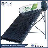 Calefator de água solar pressurizado estojo compato evacuado da câmara de ar