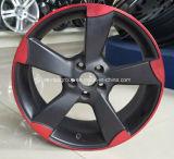 Linha vermelha preta rodas de Matt da liga de alumínio do carro para Audi