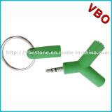 3.5mm 이중 잭 이어폰 오디오 접합기 또는 쪼개는 도구 (AD-128)