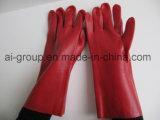 Schwere rote Farbe Belüftung-industrielle Handschuhe